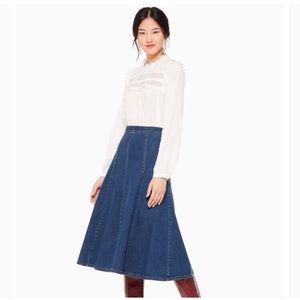 Kate Spade Denim Midi Skirt Size 4